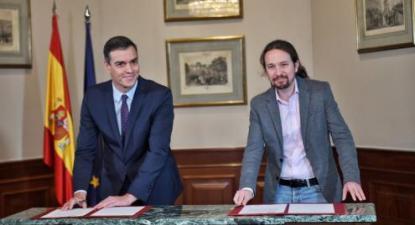 O acordo estabelecido entre PSOE e Unidas Podemos pode ser um passo importante para superar o impasse político e um fator importante na questão nacional