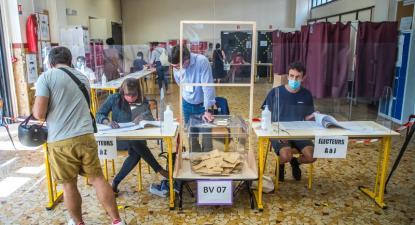 Eleições regionais em França, primeira volta, 20 de junho de 2021 – Foto de Christophe Petit Tesson/Epa/Lusa