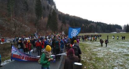 Ambientalistas marcham pelos Alpes até ao Fórum de Davos. Janeiro de 2020.