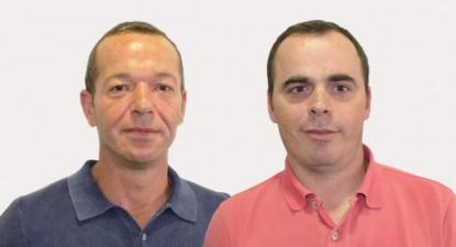 Ernesto Ferraz (à esquerda), candidato à Assembleia Municipal, e Paulo Alexandre Santos (à direita), candidato à Câmara, são os cabeças de lista do Bloco de Esquerda em Câmara de Lobos