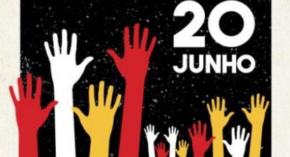 Em Lisboa, a ação decorrerá no Rossio, a partir das 19 horas de segunda-feira, 20 de junho de 2016
