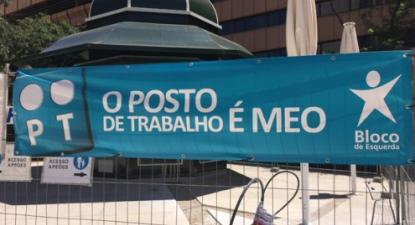 Os trabalhadores da PT/MEO estão a ser tratados como mercadoria de que o novo dono da PT/MEO, a ALTICE, pretende desfazer-se - foto esquerda.net