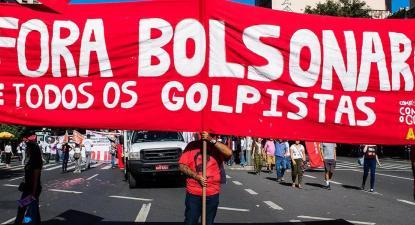 Campanha Fora Bolsonaro sai às ruas no mesmo dia dos bolsonaristas. Foto Mídia Ninja
