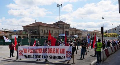 Manifestação sobre as obras do AVE. Junho de 2020 - Foto de CIG | Facebook