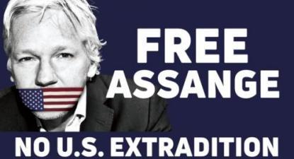 Liberdade para Assange - Não à extradição para os EUA