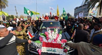 Funeral de Qassem Soleimani e dos mortos no ataque dos EUA, 4 de janeiro de 2020 – Foto de Murtaja Lateef/Epa/Lusa