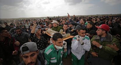 Marcha do Retorno foi reprimida com fogo real pelas tropas de Israel esta sexta-feira em Gaza.
