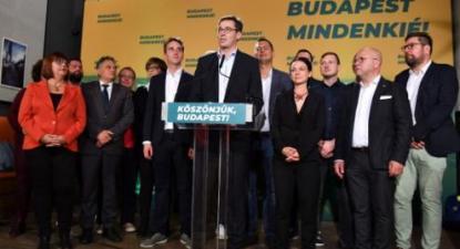 Nas eleições regionais e autárquicas de 2019, Orbán e o seu partido de extrema direita foi derrotado e Gergely Karacsony foi eleito presidente da Câmara de Budapeste – Foto de Zoltan Balogh/Epa/Lusa
