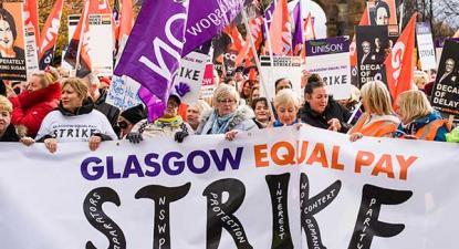 Glasgow: escolas e creches fecharam para exigir igualdade salarial