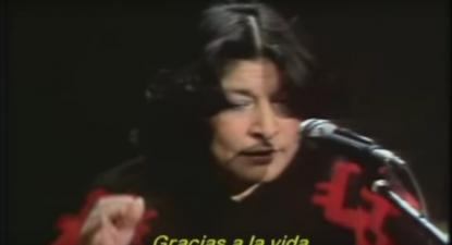 """Mercedes Sosa cantou """"Gracias a la vida"""""""