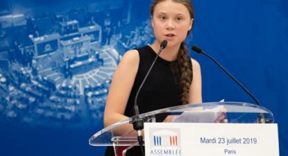 Greta Thunberg interveio na Assembleia Nacional de França em 23 de julho de 2019 - Foto de Ian Langsdon/Epa/Lusa