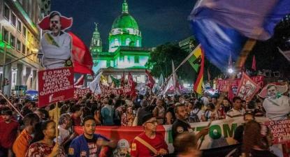 Manifestação no Rio de Janeiro no dia da greve geral.
