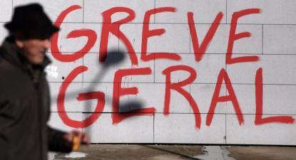 Mural Greve Geral. Foto de José Coelho/Lusa.