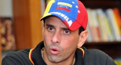 """Henrique Capriles, que foi candidato presidencial da oposição de direita em 2012 e 2013, critica e afasta-se da estratégia de Guaidó e daquilo a que chama """"governo na internet"""" - Foto aporrea.org"""