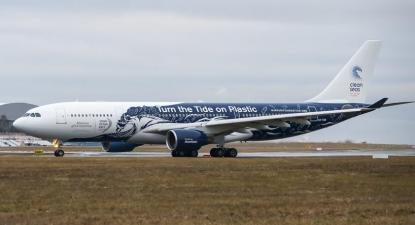 Avião da Hi Fly. Foto de despedimentos.pt.