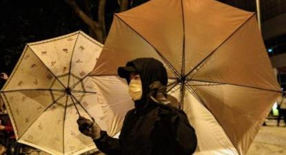 Manifestante em protesto.