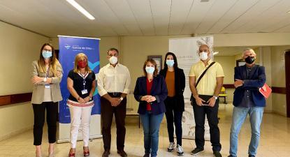 Delegação do Bloco com a administração do Hospital Garcia de Orta - Foto Andreia Quartau