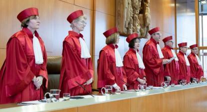 Juízes do Tribunal Constitucional Federal alemão. Foto: Thorsten Wagner/EPA-EFE.