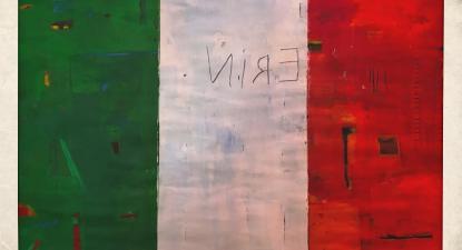 Bandeira da Irlanda. Ilustração de Frederico Mira George. 2019