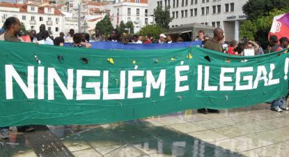Manifestação de imigrantes em Lisboa. Foto de Paulete Matos.