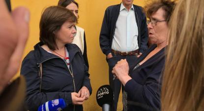 """Despejos são uma verdadeira """"tragédia social"""", diz Catarina Martins"""