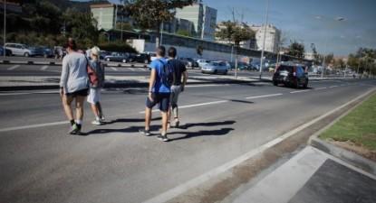 Faltam corredores seguros, sinalização e passeios junto da saída do parque, aponta o Bloco de Esquerda
