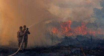 Monitoramento e combate ao Incêndio na região de Sorriso no Norte de MT. Foto: Mayke Toscano/Secom-MT