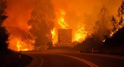 Incêndio de Pedrógão Grande em junho. Foto Paulo Cunha/Lusa