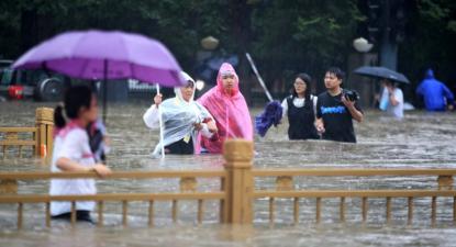 Inundações na cidade de Zhengzhou, China, 20 de julho de 2021 – Foto de Epa/Feature China