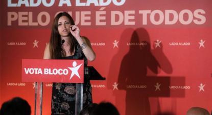 Marisa Matias no comício de encerramento em Coimbra, Europeias 2019. Foto de Paula Nunes.