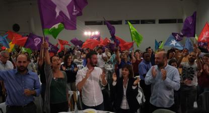 Jantar-comício do Bloco de Esquerda em Santa Maria da Feira, no distrito de Aveiro - Foto de Paula Nunes