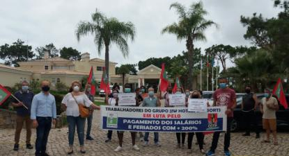 Algarve: Greve no Grupo JJW Hotels no dia 11 e 12 de agosto