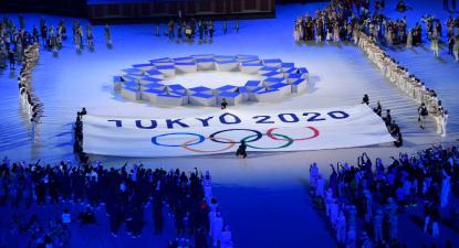 Cerimónia de abertura dos Jogos Olímpicos de Tóquio, Japão, 23 de julho de 2021 – Foto de Zsolt Czegledi/Epa/Lusa
