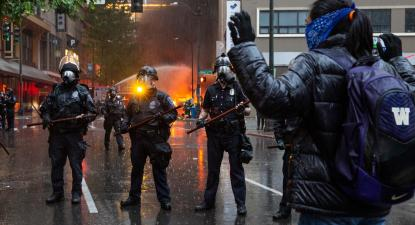 Protestos #BlackLivesMatter em Seattle, EUA. Imagem via Flickr de Kelly Kline. Licença Creative Commons.