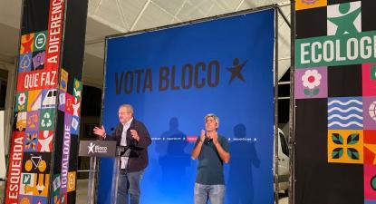 Luís Fazenda homenageou Jorge Sampaio no comício em Torres Novas – Foto de Andreia Quartau