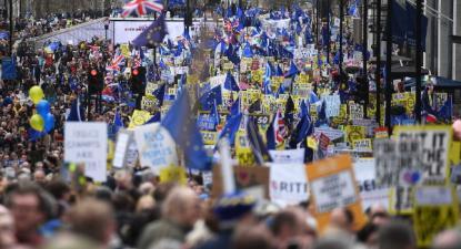 Marcha de Londres por um segundo referendo, 23 de março 2019 – Foto Neil Hall/Epa/Lusa