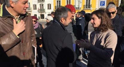 Luís Monteiro na manifestação da ABIC