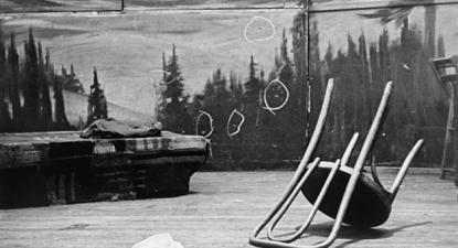 Palco onde Malcolm X foi assassinado. Foto da Biblioteca do Congresso dos EUA/Wikimedia Commons.