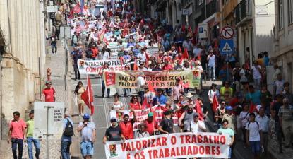 Manifestação contra o agravamento da lei laboral, 11 de julho de 2019 - Foto da CGTP