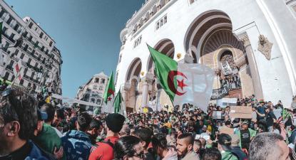 Manifestação na Argéloia em 2019.