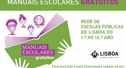 Cartaz manuais escolares gratuitos