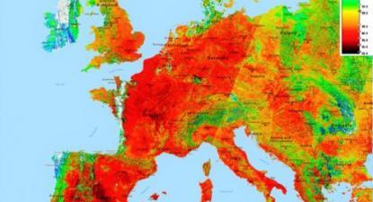 Mapa das temperaturas na Europa em 25 de julho de 2019 – Fonte: Organização Meteorológica Mundial