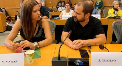 Marisa Matias e José Gusmão no Parlamento Europeu - Foto esquerda.net