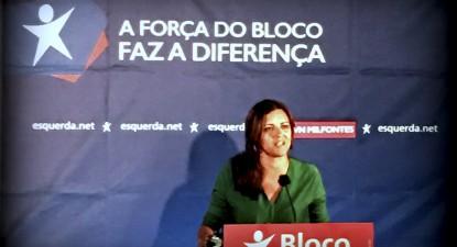 """Eurodeputada Marisa Matias declarou: """"temos um ano para impedir que se comece a fazer prospeção, para impedir que se comece a fazer testes, para impedir que se faça a extração de petróleo"""" - foto Esquerda.net"""