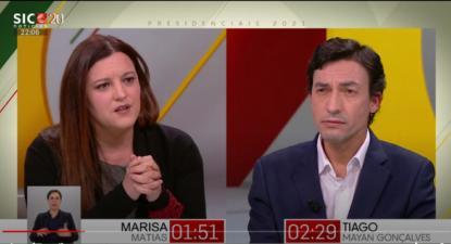 Debate entre Marisa Matias e Tiago Mayan