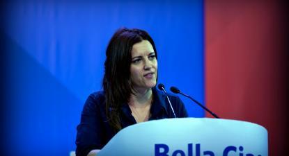 """""""A esquerda que integramos é a que vive bem com a diversidade"""" realçou Marisa Matias - Foto de Paulete Matos"""