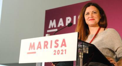 Marisa Matias na noite eleitoral