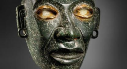 Uma das máscaras consideradas falsas pelo Instituto mexicano e que será leiloada pelo preço de 550.000 euros pela Christie's.