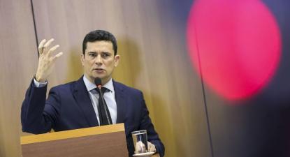 Sérgio Moro apresentando as novas propostas de lei. Foto de Márcio Camargo, Agência Brasil