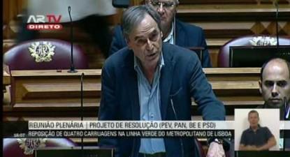 """Heitor de Sousa: """"Politica de desinvestimento deteriorou a qualidade de serviço do Metropolitano"""""""
